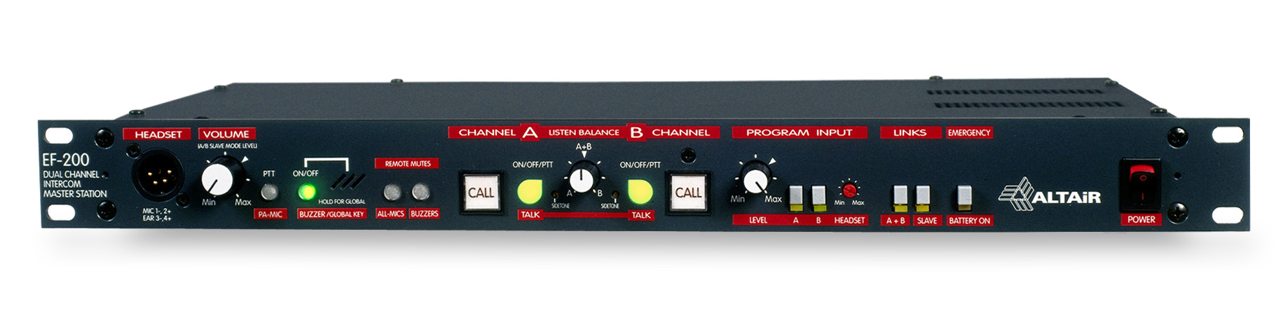 """EF-200"" DUAL CHANNEL MASTER STATION"